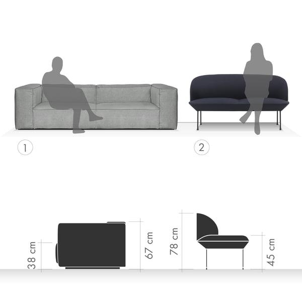 Canapé Graphique 4 - Assis et relaxant