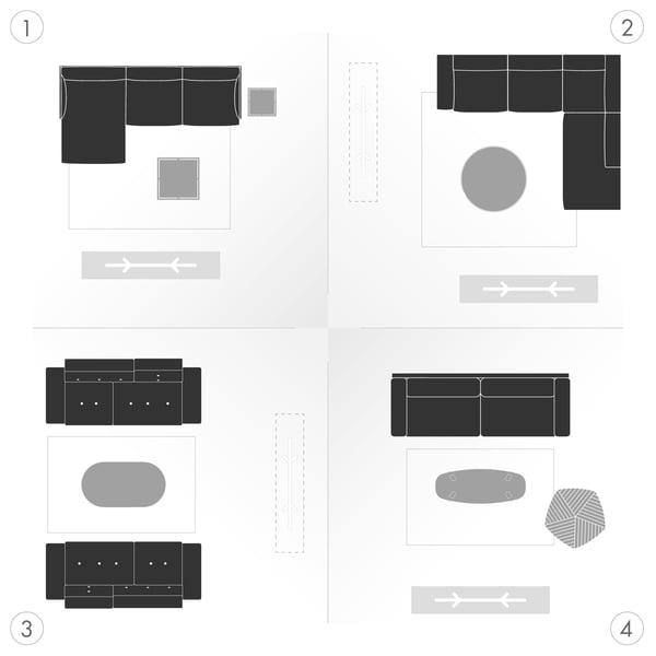 Canapé Graphique 5 - Variantes